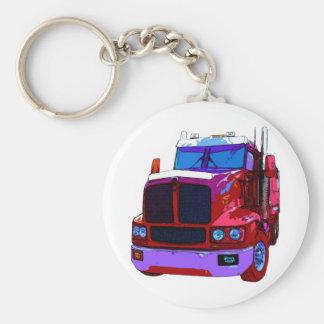 Red Semi Truck Keychains