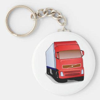 Red Semi-Truck Keychains
