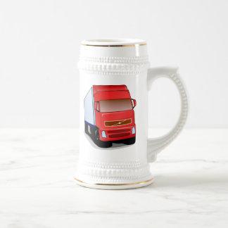 Red Semi-Truck Coffee Mug