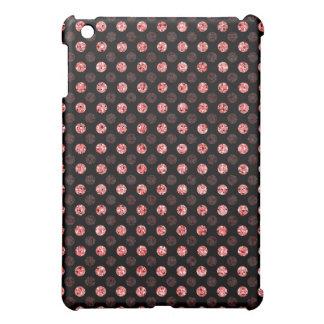 Red Sequin Effect Dots - Dark iPad Mini Cases