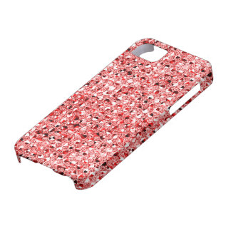 Red Sequin Effect Phone Cases iPhone 5 Covers