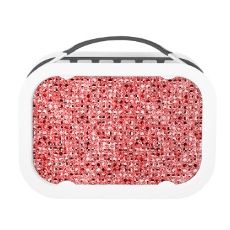 Red Sequinned Bling Effect Lunch Box