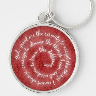 Red Serenity Prayer Keychain