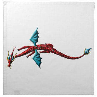 Red Serpent Dragon Napkin