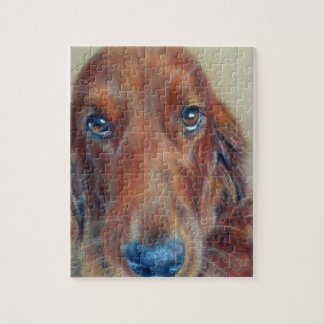 Red setter dog jigsaw puzzle