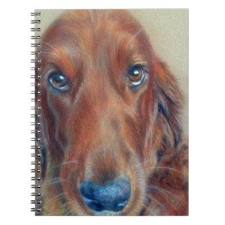 Red setter dog spiral notebook