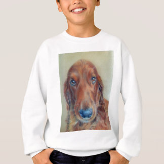 Red setter dog sweatshirt