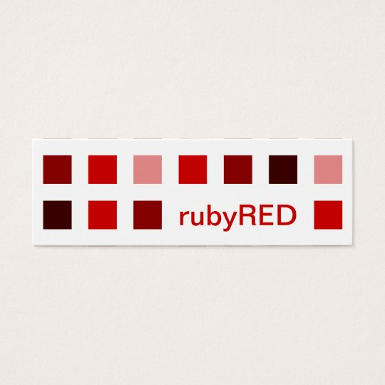 RED SHADES (mod squares) Mini Business Card