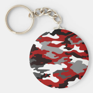 Red Shadows Camo Key Ring