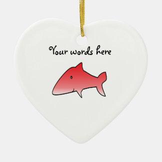 Red shark christmas ornament