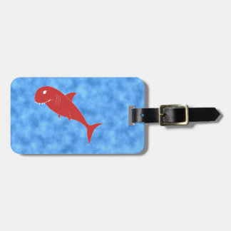 Red Shark. Luggage Tag