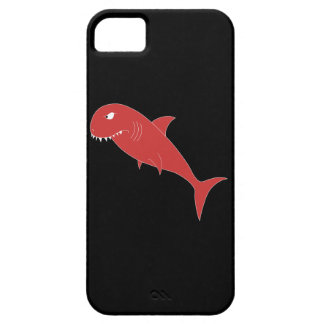 Red Shark on Black. iPhone 5 Cover