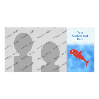 Red Shark. Custom Photo Card
