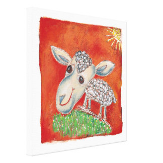 Red Sheep canvas
