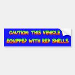 red shells car bumper sticker