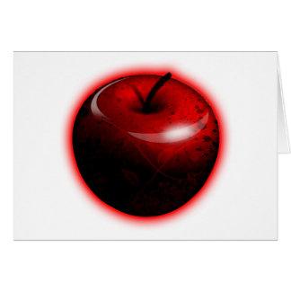 Red Shiny Apple -  Forbidden Fruit Card
