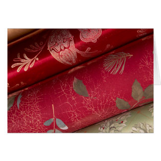 Red Shiny Wrapping Paper Cards and Stickers