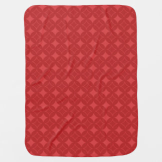 Red shippo pattern buggy blanket