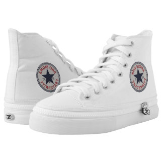 Red Shirt High Tops Printed Shoes