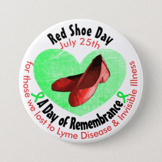 Red Shoe Day, A Day of Remembrance 7.5 Cm Round Badge