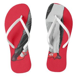 Red Shoe Day Lyme Awareness Flip Flops