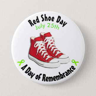 Red Shoe Day Red Shoes Button