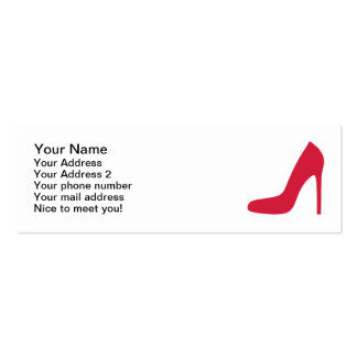 Red Shoe Pumps Pack Of Skinny Business Cards