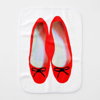 Red Shoes Burp Cloth