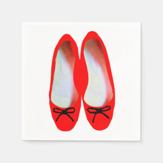 Red Shoes Paper Napkins