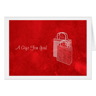 Red Shopping Spree Money Enclosed Note Card