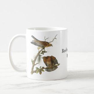 Red-shouldered Hawk, John Audubon Basic White Mug