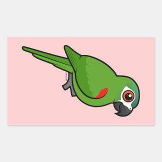 Red-shouldered Macaw Rectangular Sticker