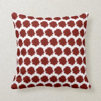 Red Silhouette Sunflower Motif Cushion