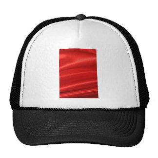Red silk background cap