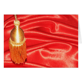 Red silk background card
