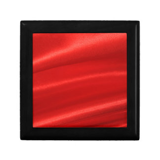 Red silk background gift box