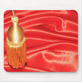 Red silk background mouse mat