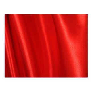 Red silk background postcard