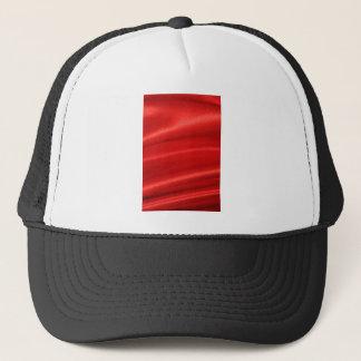 Red silk background trucker hat