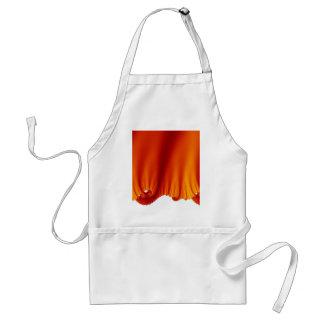 Red Silk Drapes Standard Apron