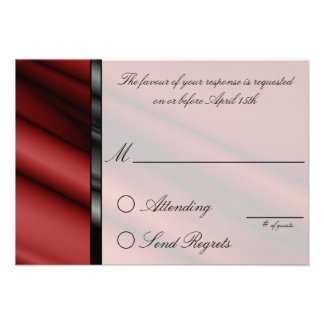 Red Silk Reply Card Personalized Invites