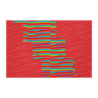 Red Silken Fabric SPARKLE Strips: NOVINO Graphics Gallery Wrapped Canvas