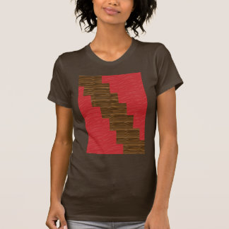 Red silky pattern ACROSS STEP GRAPHIC ART MULTI IM T Shirt