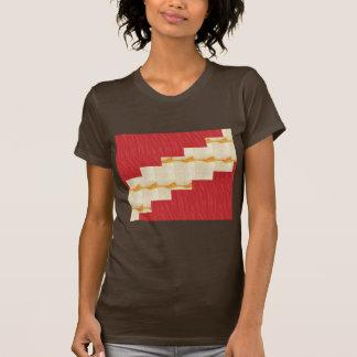 Red silky pattern ACROSS STEP GRAPHIC ART MULTI IM Tshirt