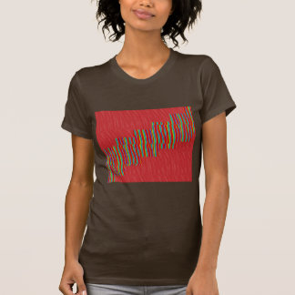 Red silky pattern ACROSS STEP GRAPHIC ART MULTI IM Tshirts