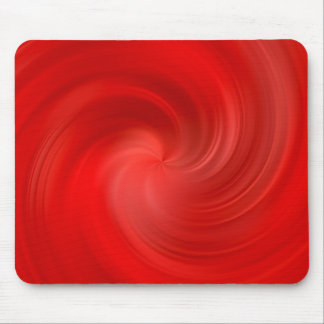 red silky swirl mouse mat