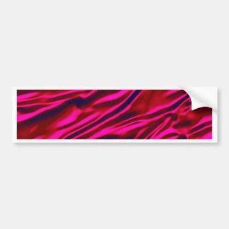 Red Silky Waves Shine Digital Bright  Pink Rusty A Bumper Sticker