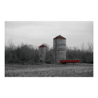 Red Silo Posters