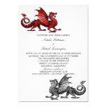 Red Silver Dragon Wedding Invite 13 Cm X 18 Cm Invitation Card