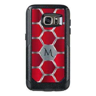 Red & Silver Geometric Pattern OtterBox Samsung Galaxy S7 Case